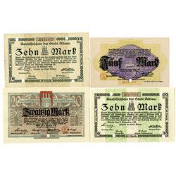 Borough of Altona. 1918. Lot of 4 Issued Notes.