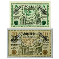 Town of Rochlitz. 1918. Pair of Issued Notes.