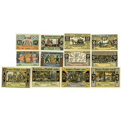 Neustadt in Holstein. 1921. Lot of 12 Issued Notes.