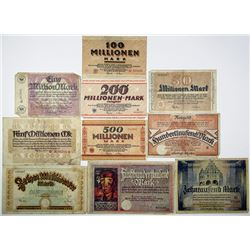 Dortmund City. 1923. Lot of 10 Issued Notes.