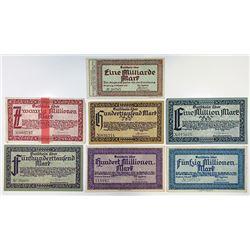 Notgeld Issues. 1923. Siegburg Inflation Assortment.