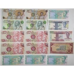 Bank of Ghana. 1961-2003. Lot of 31 Issued Notes.