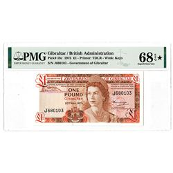 Government of Gibraltar. 1975. Finest Known Issued Banknote.