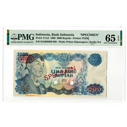 Bank Indonesia. 1968. Specimen Banknote.