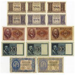 Regno D'Italia and Biglietto Di Stato 1892 Issue Assortment.