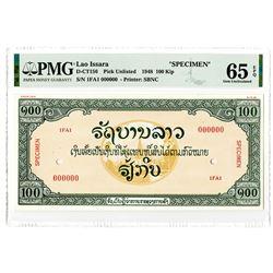 Lao Issara. 1948. Specimen Essay Banknote.
