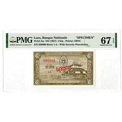 Banque Nationale du Laos. ND (1957). Specimen Banknote.