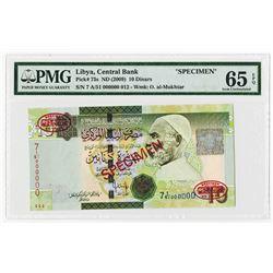 Central Bank of Libya. ND (2009). Specimen Banknote.