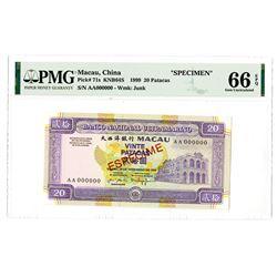 Banco Nacional Ultramarino. 1999. Issued Banknote.