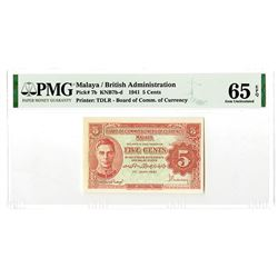 Board of Commissioners of Currency. 1941. Issued Banknote.