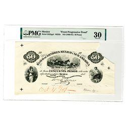 "Banco de Londres Mexico y Sud America, ND (1968-81) Unique ""Front Progressive Approval Proof"" ."