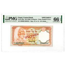 Central Bank of Nepal. ND (1988). Specimen Banknote.