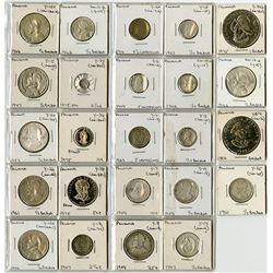 Panama Mostly Silver Coin Assortment ca.1904-1982