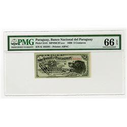 Banco Nacional del Paraguay. 1886. Issued Banknote.