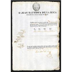 D Juan Bautista de la Roca, Counter of the Cuzco Mint Document
