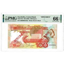 Central Bank of Seychelles, ND (1989) Specimen Banknote Quartet.