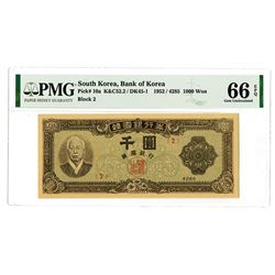 Bank of Korea. 1952 / 4285. Issued Banknote.