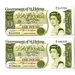 Government of St. Helena, 1981 Issue Banknote Pair