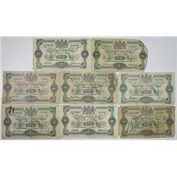 Sveriges Riksbank. 1914-1921. Lot of 8 Issued Notes.