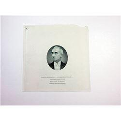 President Ismet Inonu Proof Vignette ca. 1940's by ABNC.