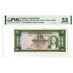 TŸrkiye Cumhuriyet Merkez Bankas_. 1930 (ND 1953). Issued Banknote.
