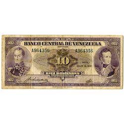 Banco Central de Venezuela. 1945. Issued Banknote.