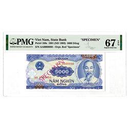 State Bank. 1991 (1993). Specimen Banknote.