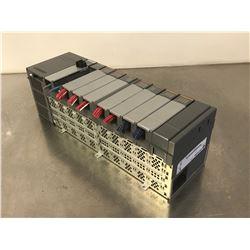 ALLEN BRADLEY SLC 500 10 SLOT RACK W/ 1747-L531 PROCESSOR , POWER SUPPLY & MODULES