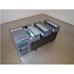ALLEN BRADLEY 1746-A7 SLC 500 7 SLOT RACK WITH 5 MODULES AND POWER SUPPLY