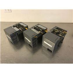 (3) ALLEN BRADLEY 1746-A4 SLC 500 4-SLOT RACK W/ MODULES
