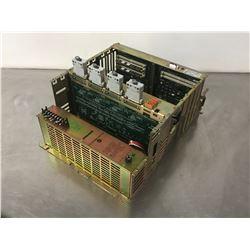 ALLEN BRADLEY 8520-PX3-EXEC2-LIBAT-S-SM4-1-2-3-5 CIRCUIT BOARD RACK W/ BOARDS