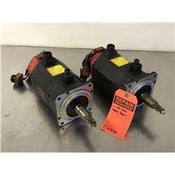 (2) FANUC A06B-0123-B175 AC SERVO MOTOR *FOR PARTS*
