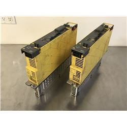 (2) FANUC A06B-6114-H105 SERVO AMPLIFIER