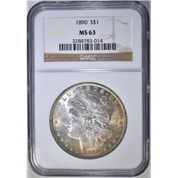 1890 MORGAN DOLLAR, NGC MS-63