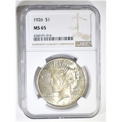 1926 PEACE DOLLAR NGC MS-65