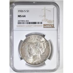 1926-S PEACE DOLLAR NGC MS-64