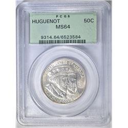 1924 HUGUENOT COMMEM HALF PCGS MS-64 OGH
