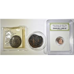 LOT OF 3 ANCIENT COINS