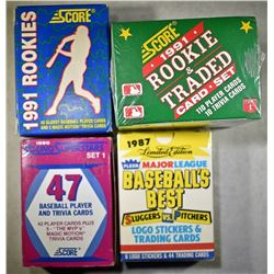 LOT OF 4 BASEBALL CARD SETS: