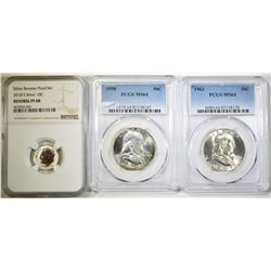 LOT OF 3 GRADED COINS: