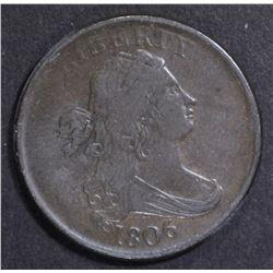 1806 HALF CENT  XF