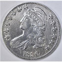 1830 BUST HALF DOLLAR  CH AU  CLEANED