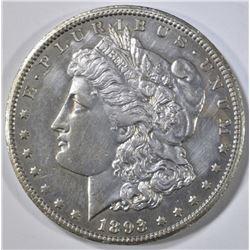 1893-CC MORGAN DOLLAR  AU/BU