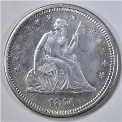 1876-S SEATED LIBERTY QUARTER  AU/BU
