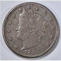 1883 WITH CENTS LIBERTY NICKEL  XF