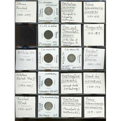World Coinage Lot;  includes German coinage dating 1619-1918.  Lot of approx 10 coins housed in 2x2'