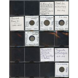 World Coinage Lot;  includes German coinage Allemagne Mecklembourg  1796-1921.  Lot of approx 5 coin