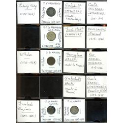 World Coinage Lot;  includes German coinage.  includes 20 various coins from the Hesse region.   All