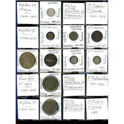 World Coinage Lot;  includes German coinage.  includes 14 various coins from the Alsace regions. All