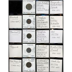 World Coinage Lot;  includes German coinage.  includes 13 various coins dating 1622-1922.  Allemagne